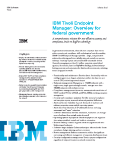 IBM Tivoli Endpoint Manager Overview