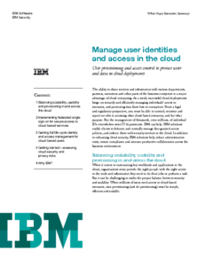 Manage User Identities and Access